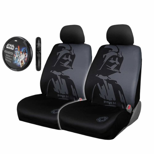 5pc Star Wars Darth Vader Black Front Seat Covers & for sale  Delivered anywhere in USA