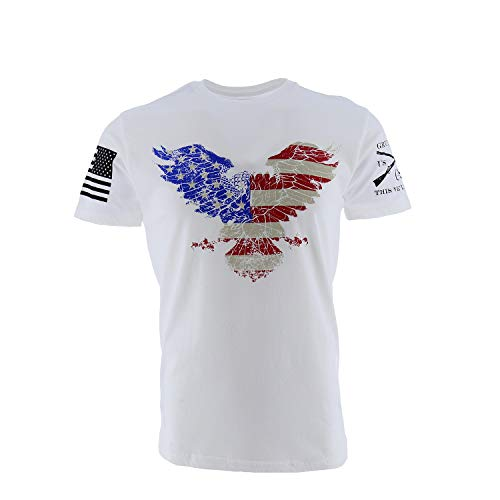 Grunt Style Freedom Eagle Men#039s TShirt Color White Size M