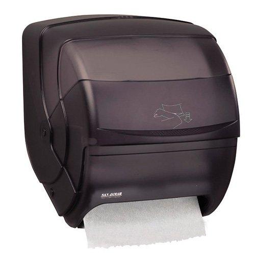- San Jamar T850TBK Black Pearl Integra Plastic Lever Roll Towel Dispenser