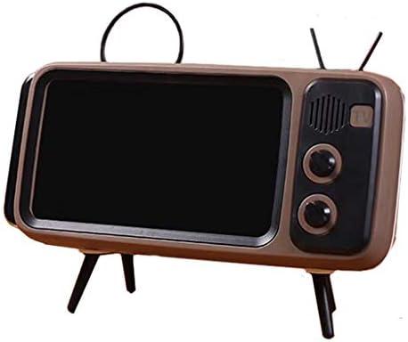 WARMWORD Altavoz Bluetooth Retro,Altavoz estéreo portátil con Forma de TV como función de Soporte para teléfono móvil, Micro USB y batería integrada,Compatible con iPhone,Android teléfono Inteligente: Amazon.es: Hogar