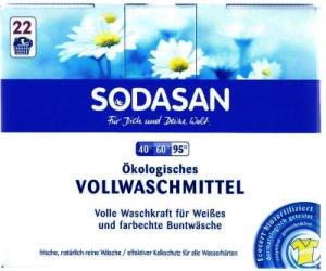 SODASAN Bio Vollwaschmittel 1,2kg (Öko Vollwaschmittel Pulver ohne Enzyme)