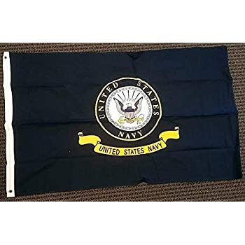 RAM 3x5 USN US United States Navy Emblem 3/'x5/' Double Sided Poly Flag Banner