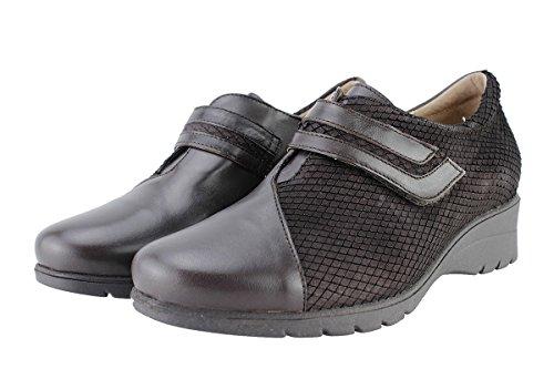 PieSanto Chaussure Femme Confort en Cuir 175962 Velcro Confortables Amples kisqH