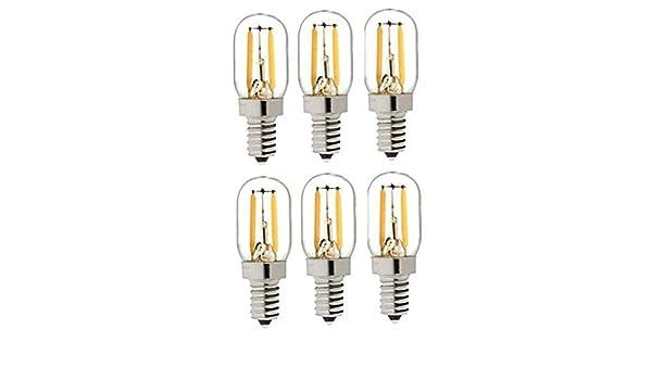 sazu itou 10 T20 filamento Bombilla LED Equivalente a 1.5 W E14 Vela, 1.5 W=10 W 110 lúmenes 6000 K blanco bombilla de filamento hilos 360 ° 230 V AC solo ...