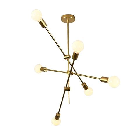 Amazon.com: TopDeng - Lámpara de araña vintage de metal ...