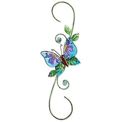 Sunset Vista Designs 91772 Metal and Glass Decorative Plant Hook, Butterfly : Garden & Outdoor