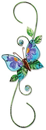Sunset Vista Designs Metal and Glass Decorative Butterfly Hook Butterfly Hummingbird Feeder