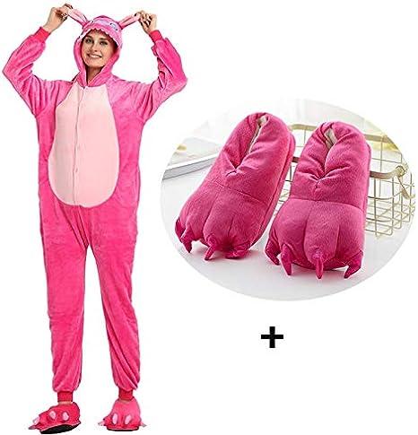 JIAWEIDAMAI Kigurumi Pijama para Adultos Lilo Stitch Onesie ...