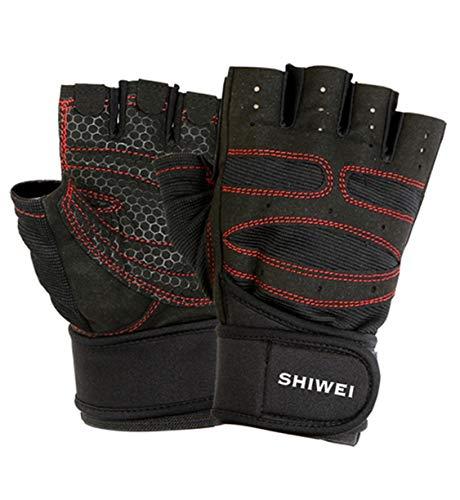 レギュラー広々最近Menswear JP トレーニンググローブ ハーフグローブ ノンスリップ スポーツ レーシング 手袋 フィットネス 半指