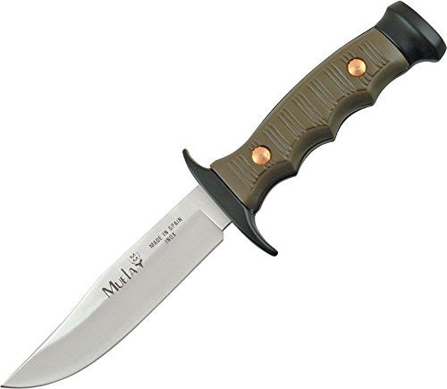 Muela CI7102 Knives Fixed Knife Kraton/Rubber Handle Premium Bowie Black Chrome