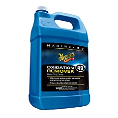 Meguiar's Marine/RV Heavy Duty Oxidation Remover is the fast and powerful solution for surface defects. Use our RV and marine cleaner to safely remove light to moderate oxidation, stains, scratches and tough water spots from gel coat, fibergl...