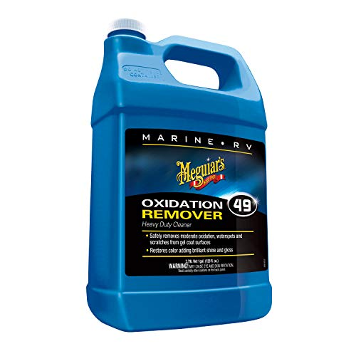 Meguiar's M4901 Marine/RV Heavy Duty Oxidation Remover 1 Fluid Gallon (Best Boat Wax To Remove Oxidation)