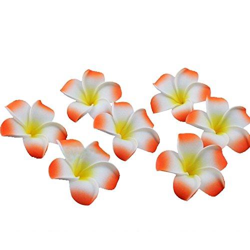 JKLcom Artificial Hawaiian Flower Petals For Wedding Party Decorations (100 Pcs)- Orange