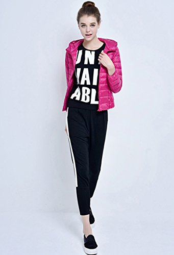 Jacket Coat Down Ladies Rose Lightweight Lovache Windproof Fashion R5Owqn1x