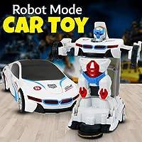 2 in 1 Otomatik Robota Dönüşen Işıklı, Sesli, Sensörlü BMW Araba