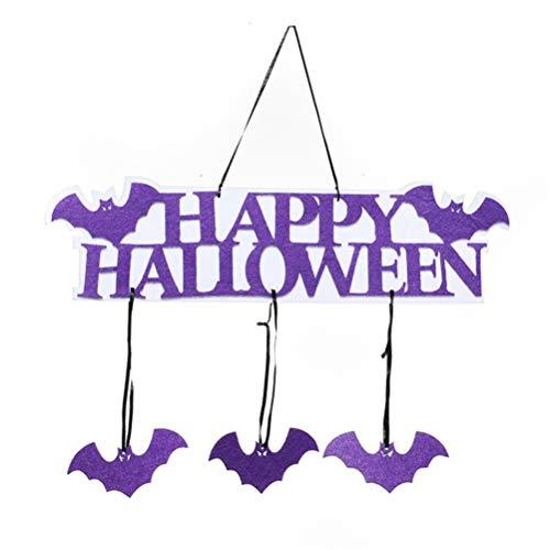 MUNFILE 5Pcs Door Hanging Decorations New Cartoon Image Hanging Ornament for Halloween Makeup Party Home Decor -