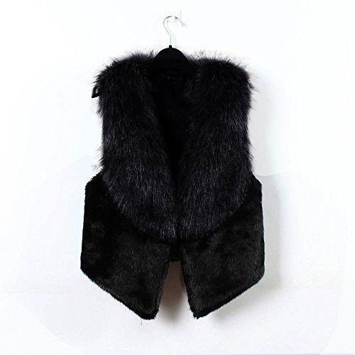 Sans Hiver Manches Noir Femmes Chaude Gilet Dames manteaux Manteau Veste Hiver femmes Survêtement Gilet qRXZHpw