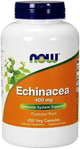 NOW Supplements, Echinacea Purpurea Root 400 mg, Immune System Support*, 250 Veg Capsules
