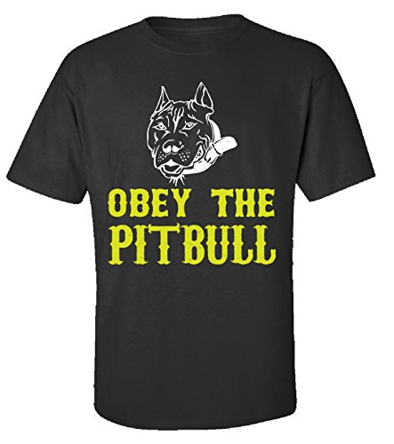 Obey The Pitbull - Adult Shirt M Black - Obey Pit Bull