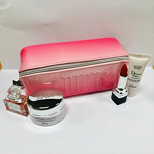 Dior Capture Youth & Miss Dior EDP Travel Set with lovely cosmetics pouch