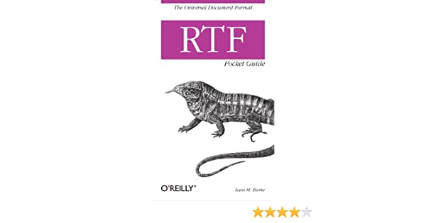 Amazon com: RTF Pocket Guide: The Universal Document Format