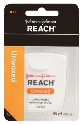 Reach Dental Floss, Unwaxed, 55 Yard (Pack of 6)