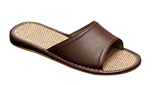Pantofole Di Cattior Mens Comode Pantofole Di Casa Marrone