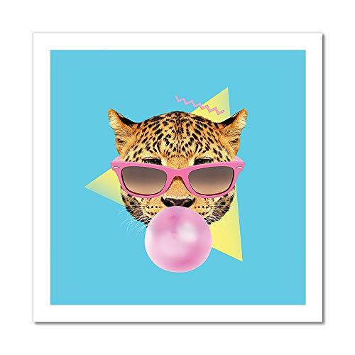 Bubble Gum Cheetah Artwork | Art Print - 24