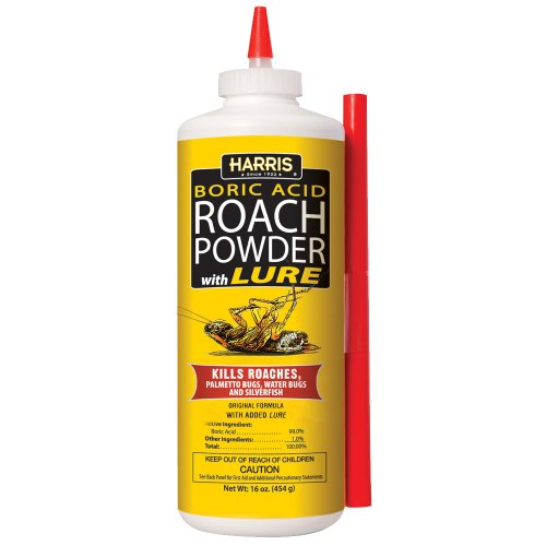 Harris Boric Acid Roach and Silverfish Killer Powder w/Lure, 16oz (Borax And Boric Acid The Same Thing)