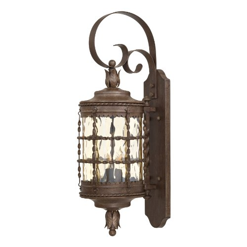 Minka Lavery Outdoor 8881-A61, Mallorca Outdoor Wall Sconce Lighting, 120 Total Watts, Rust - Mallorca 2 Light