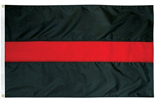 Thin Red Line  - 3' x 5' Nylon Flag