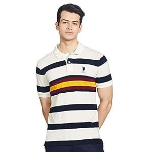 US Polo Association Men's Solid Regular T-Shirt (USTSH0031_White Medium)