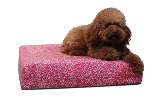 brentwood-gel-memory-foam-orthopedic-54-by-35-inch-dog-bed-x-large-pink-cheetah
