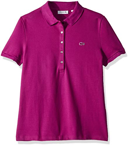 Lacoste Women's Classic Short Sleeve Slim Fit Stretch Pique Polo, PF7845, Cardinal red 4
