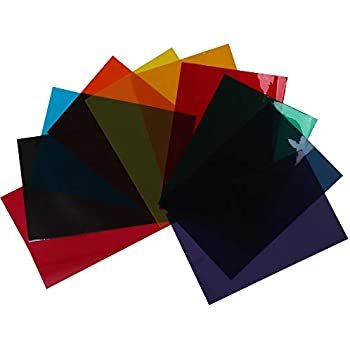 HOHOFILM 10Colors Bundle Pack Colorful Transparent Window Film Self Adheisve Glass Decoration Tint A4 Sample 21cmx29.7cm