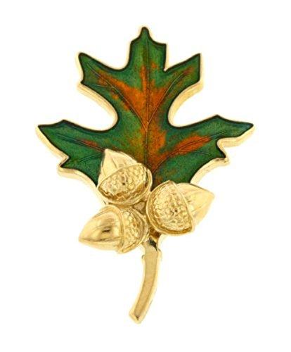 Oak Leaf and Acorns Brooch or Pin