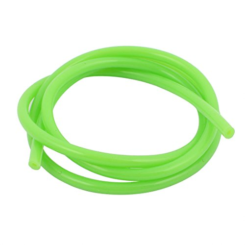 uxcell 1M Green PVC Soft Silicone Single Way Anti-aging Gasoline Tube Accessories D5.2x2.5x1000mm (Gas Rc Motorcycle)