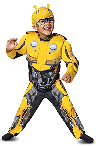 Disguise Bumblebee Toddler Muscle Child Costume, Yellow, -