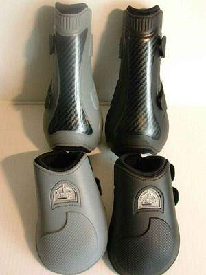 Veredus Carbon Gel Open Front Tendon Boot Brown, Large