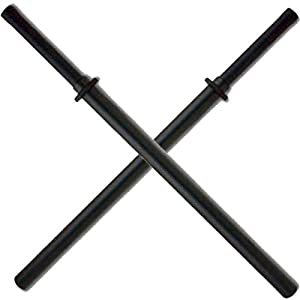 Set of 2 Black Padded Sparring Bokken Foam Sword Practice Blade
