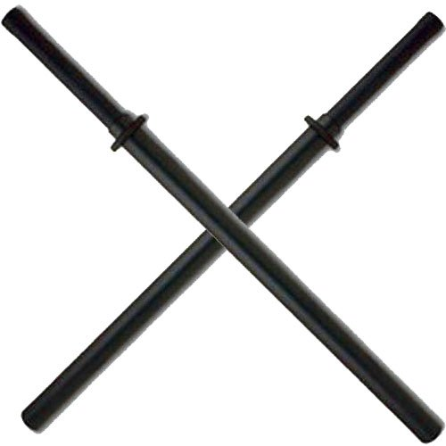 Set of 2 Black Padded Sparring Bokken Foam Sword Practice -