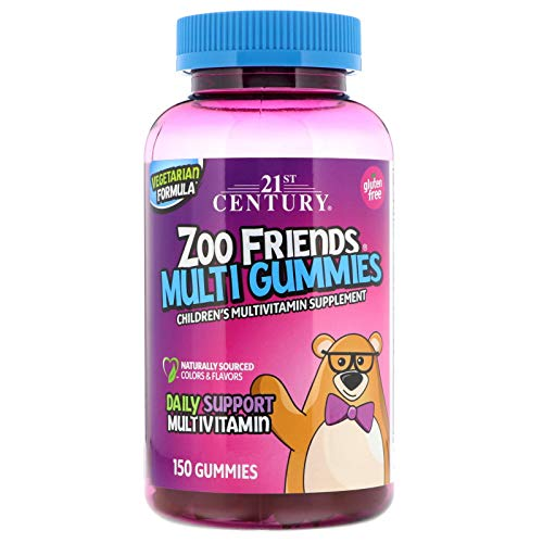 21st Century, Zoo Friends Multi Gummies, Children's Multivitamin Supplement, 150 Gummies