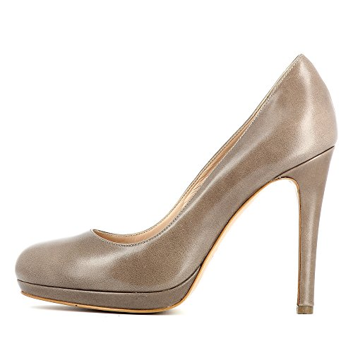 Evita Shoes Cristina Damen Pumps Glattleder Taupe