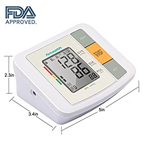 Automatic Digital Upper Arm Blood Pressure Monitor with Cuff, Accurate,Large Screen Display,Irregular Heartbeat Indicator,2 User Mode,FDA Approved Blood Pressure Machine (BP Monitor)by Firhealth