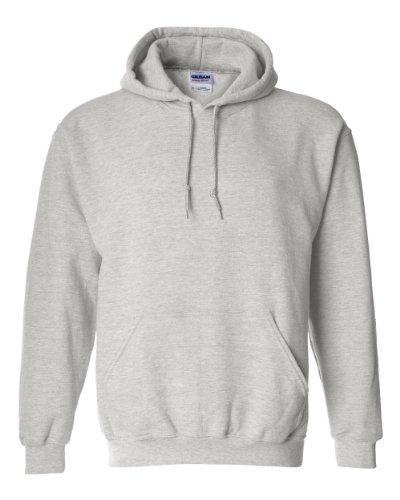Gildan 18500 - Classic Fit Adult Hooded Sweatshirt Heavy Blend - First Quality - Ash Grey - Large ()
