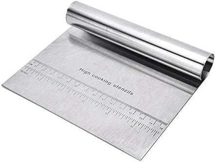 まな板 ベーキングペストリーへらカッター生地スケールとボードキッチンアクセサリーピザ生地スクレーパーを切断 LCLJP