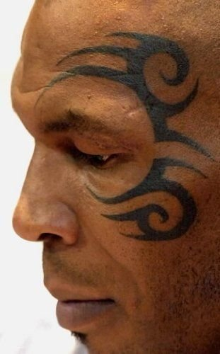Costume Mike Tyson Tattoo (Halloween Temporary Mask Temorary Tattoo Mike)