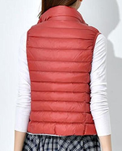 Donna Cappotto La Doufine Giù Più Sottile Maglia Anguria Rosso Semplice Persone Formato Collare Leggerezza P11nq5w4xZ