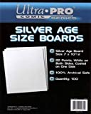 UltraPro Comic Series Silver Age Size Boards 7 x 10 1/2 Pack of 100