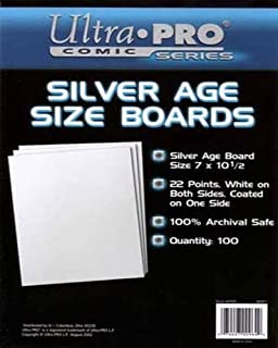 Ultra Pro Comic Series Silver Age Size Boards 7 x 10 1/2 Pack of 100 (B001Q75XQW) | Amazon Products